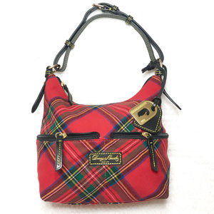 New tartan canvas and leather plaid bag